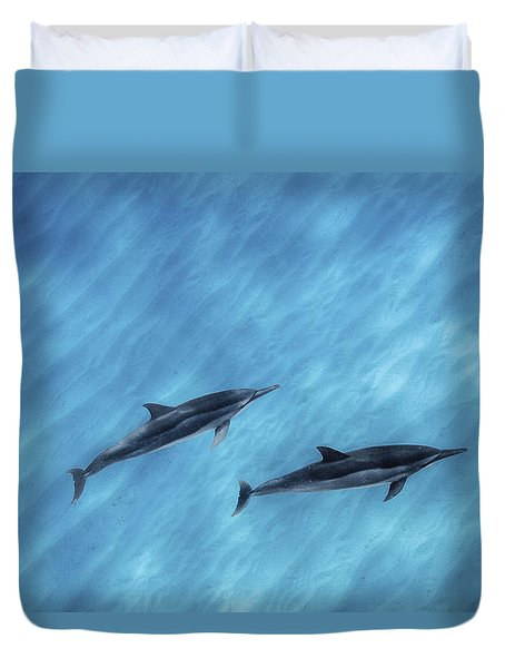 Blue Chill Duvet Cover by Sean Davey