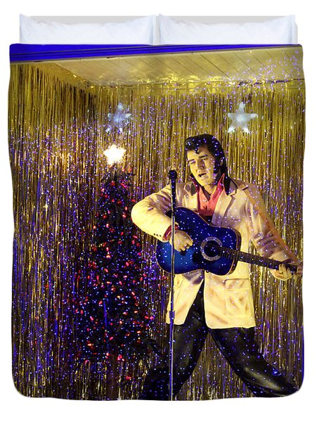 Blue Christmas Without Elvis Duvet Cover
