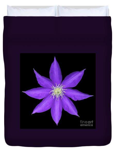 Blue Clematis Duvet Cover