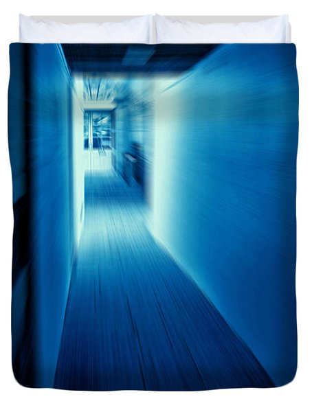 Blue Corridor Duvet Cover