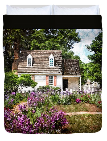 Blue Cottage Duvet Cover