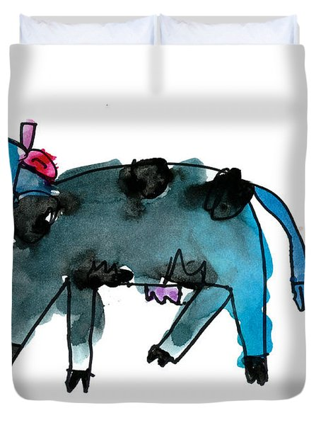 Blue Cow Duvet Cover