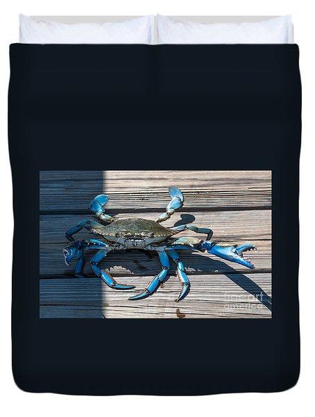 Blue Crab Pincher Duvet Cover