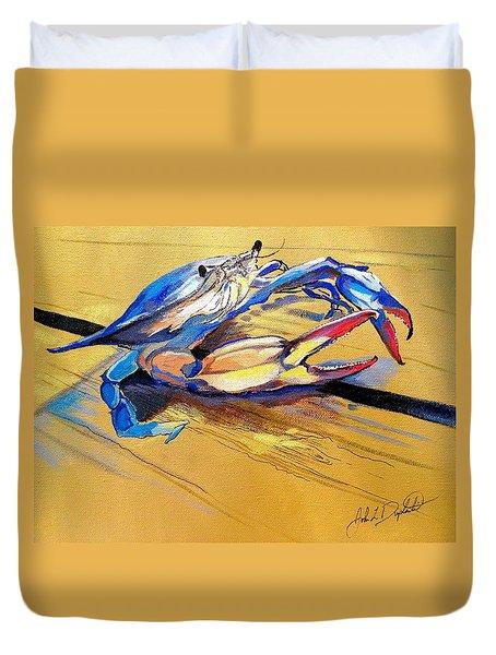 Blue Crabbie  Duvet Cover