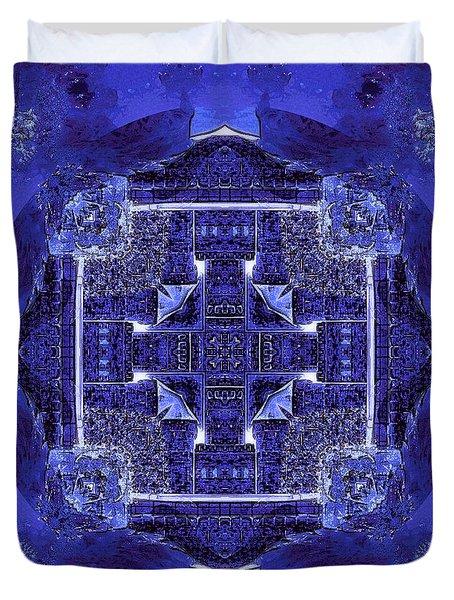 Blue Cross Radiance Duvet Cover by David Mckinney