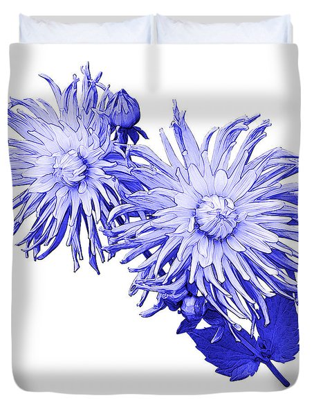 Duvet Cover featuring the photograph Blue Dahlia by Jane McIlroy