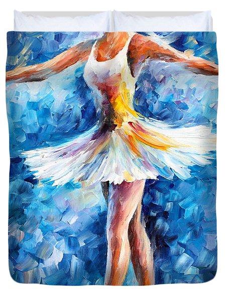 Blue Dance Duvet Cover by Leonid Afremov