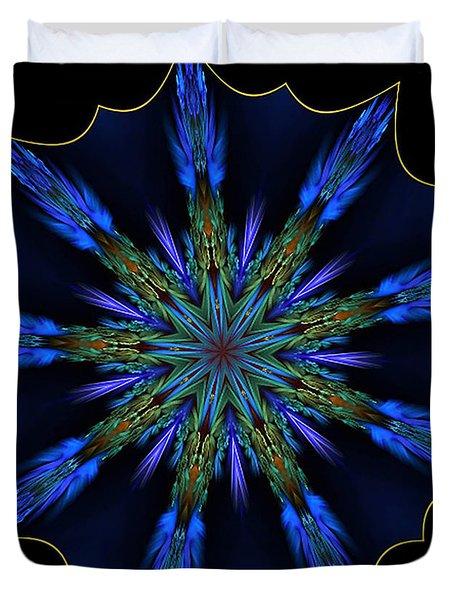 Blue Danube Kaleidoscope Duvet Cover