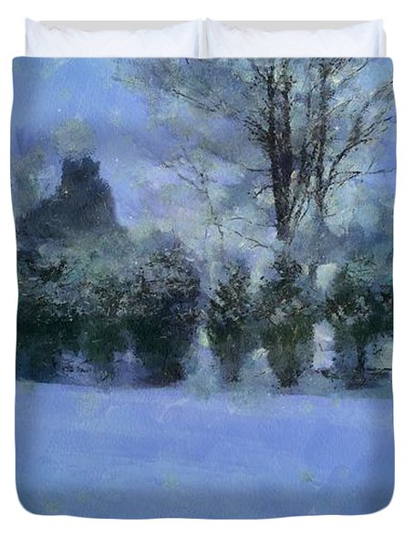 Blue Dawn Duvet Cover by RC deWinter