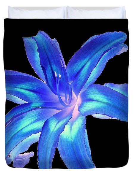 Blue Day Lily #2 Duvet Cover