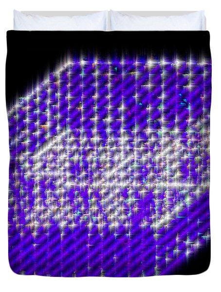 Blue Diamond Grid Duvet Cover