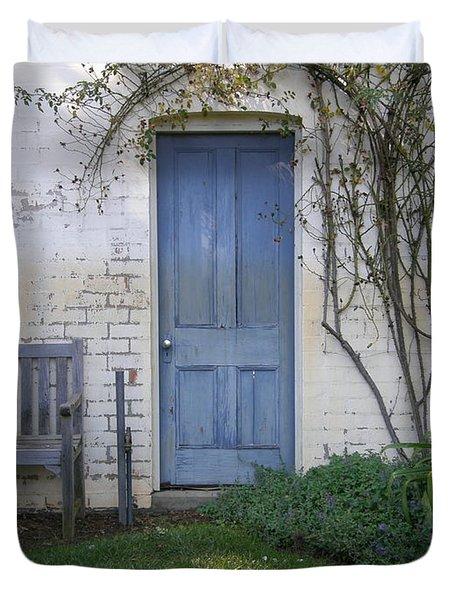 Blue Door Duvet Cover by Bev Conover