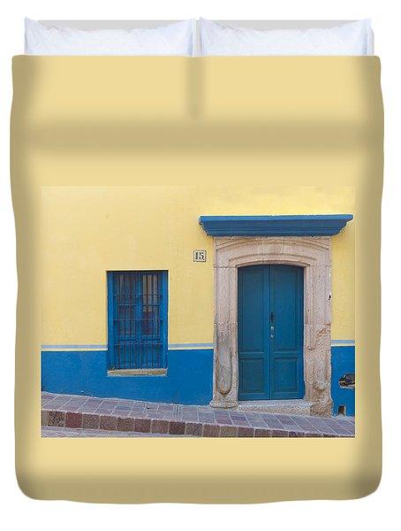 Blue Door Duvet Cover by Douglas J Fisher