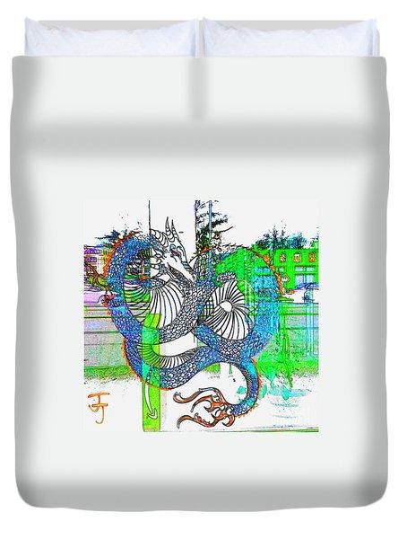 Blue Dragon Duvet Cover
