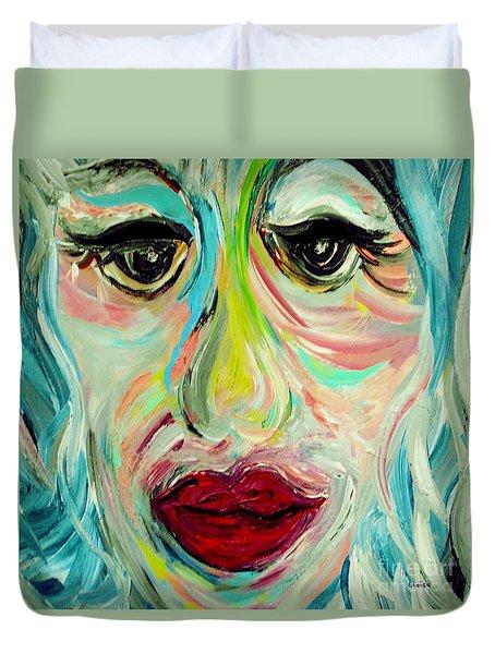 Blue Duvet Cover by Eloise Schneider