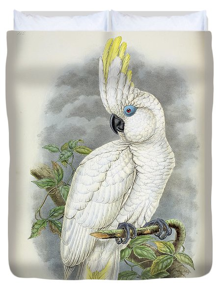 Blue-eyed Cockatoo Duvet Cover by William Hart