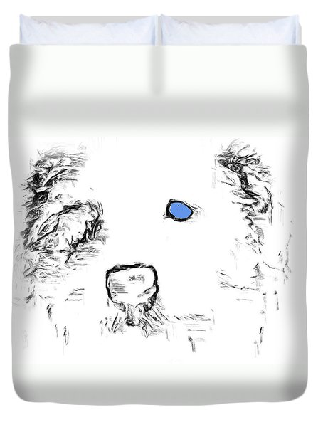 Blue Eyed Pup Duvet Cover
