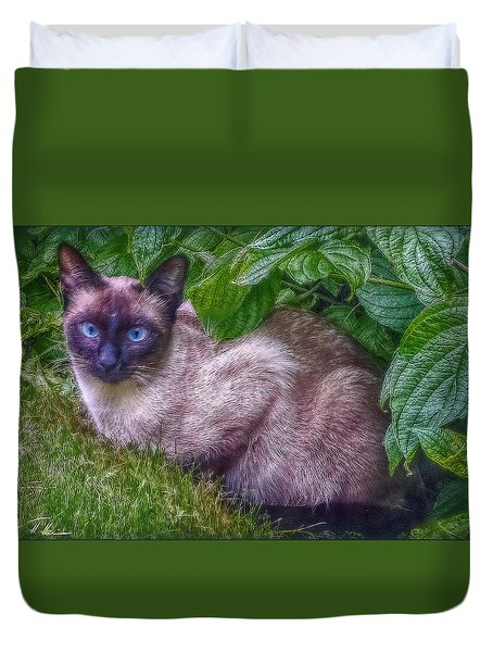 Blue Eyes - Signed Duvet Cover by Hanny Heim