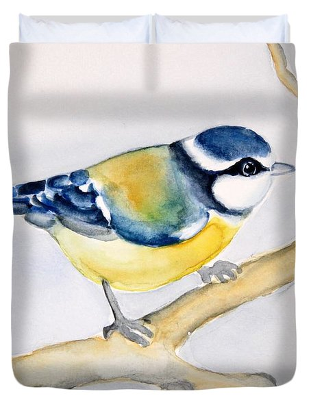 Blue Finch Duvet Cover
