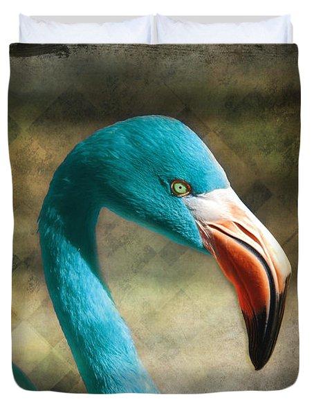 Blue Flamingo Duvet Cover