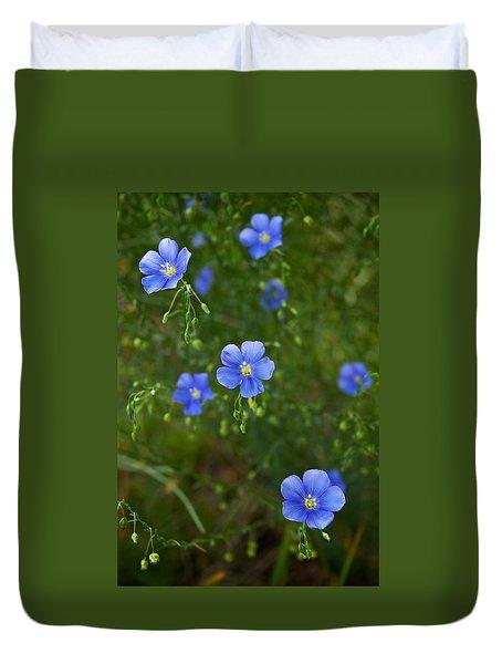 Blue Flax Duvet Cover