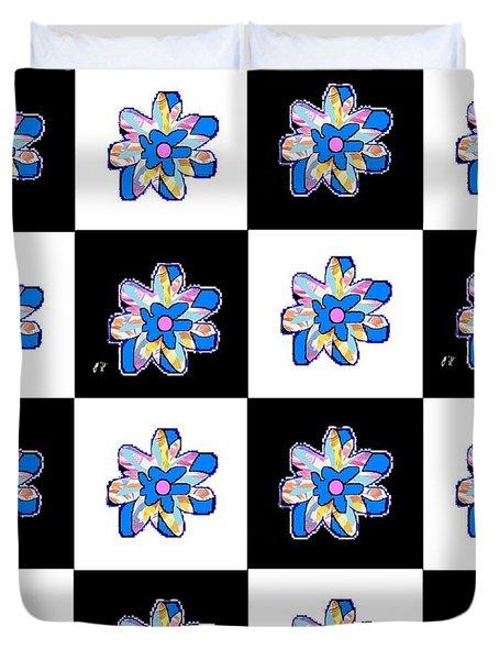Blue Flower Dance Duvet Cover