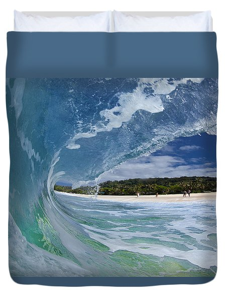 Blue Foam Duvet Cover by Sean Davey