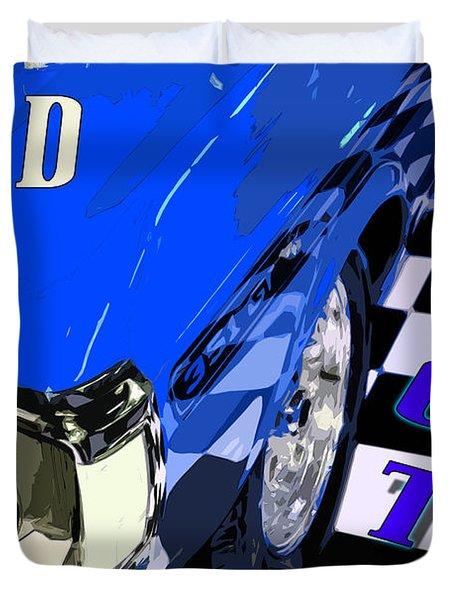 Blue Ford  Gt Duvet Cover