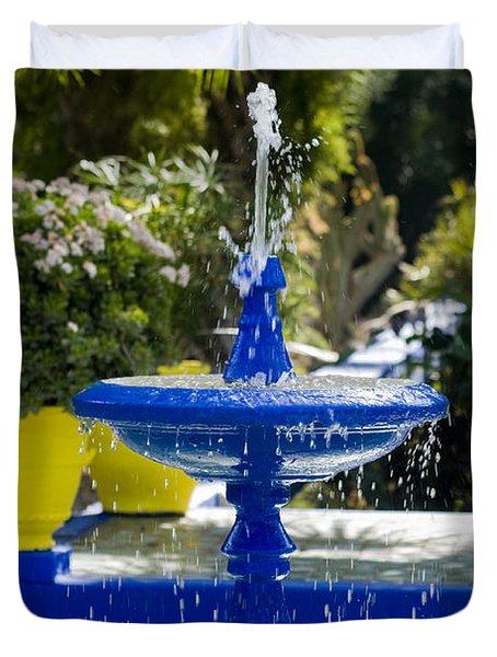 Blue Fountain Duvet Cover