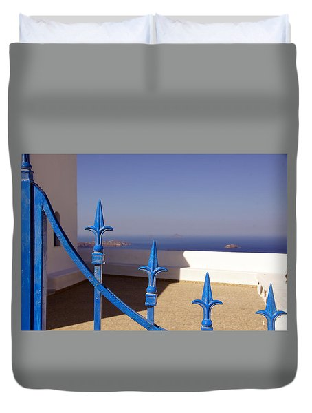 Blue Gate Duvet Cover by Debi Demetrion