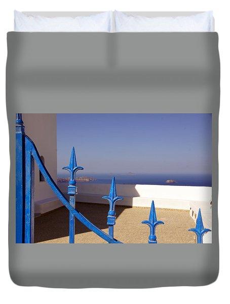 Blue Gate Duvet Cover