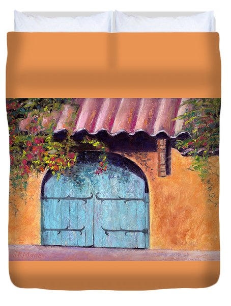 Blue Gate Duvet Cover