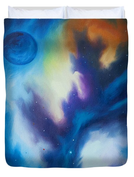 Blue Giant Duvet Cover by James Christopher Hill