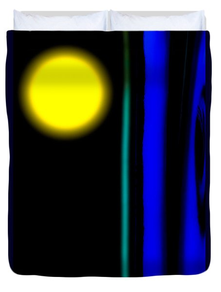 Blue Glass Duvet Cover by Bob Orsillo