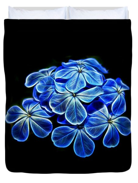 Blue Glow Duvet Cover by Judy Vincent