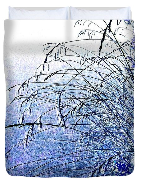 Blue Grass Duvet Cover