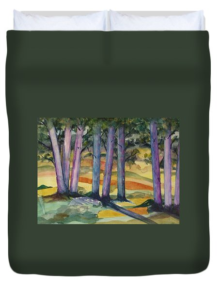 Blue Grove Duvet Cover