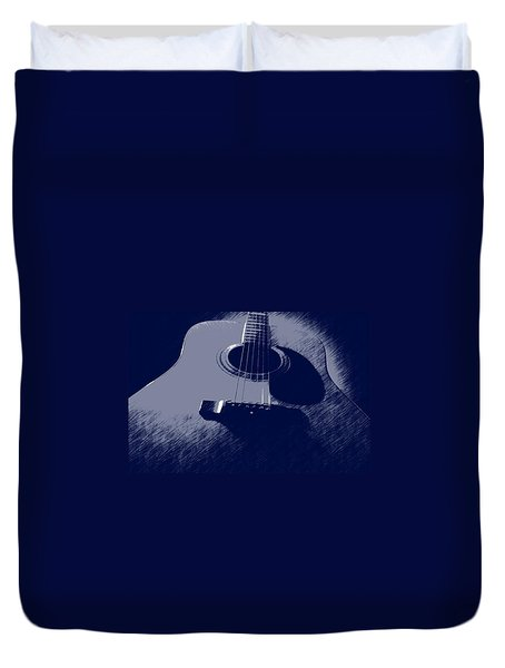 Blue Guitar Duvet Cover by Photographic Arts And Design Studio
