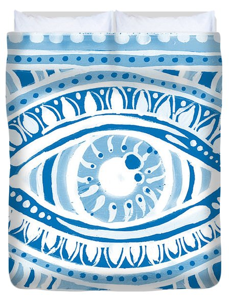Blue Gypsis Eye Duvet Cover