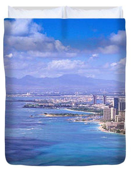 Blue Hawaii Duvet Cover by Les Palenik