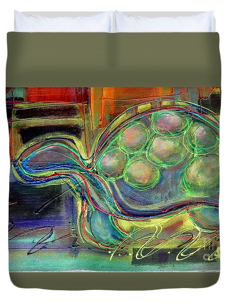 Blue Hawain Turtle Duvet Cover