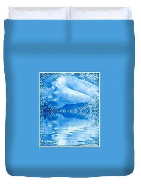 Blue Healing Duvet Cover