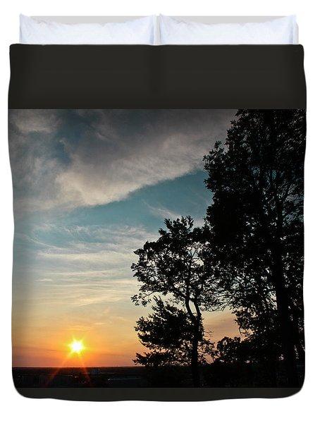 Blue Heaven Sunset Duvet Cover