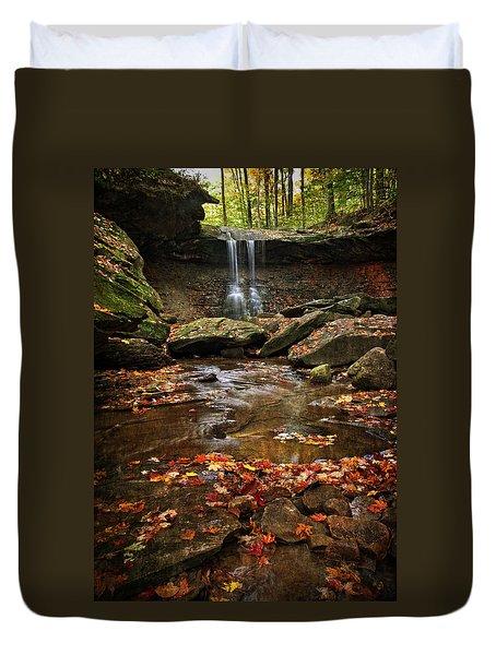 Blue Hen Falls In Autumn Duvet Cover