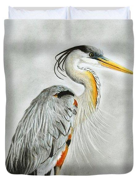 Blue Heron 3 Duvet Cover