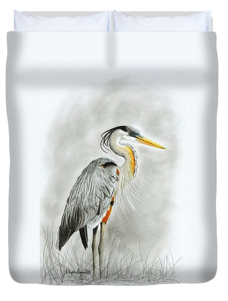 Blue Heron 3 Duvet Cover