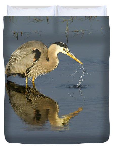Blue Heron   #7783 Duvet Cover