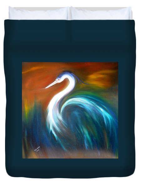 Blue Heron Duvet Cover