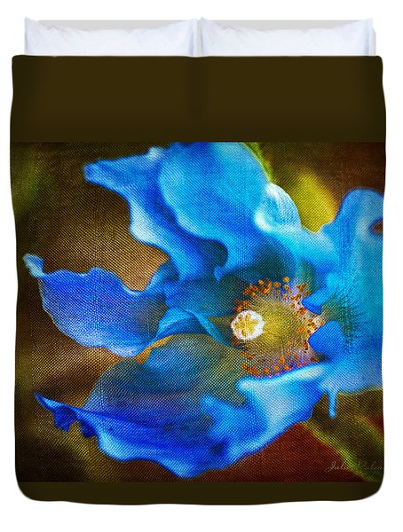 Blue Himalayan Poppy Duvet Cover