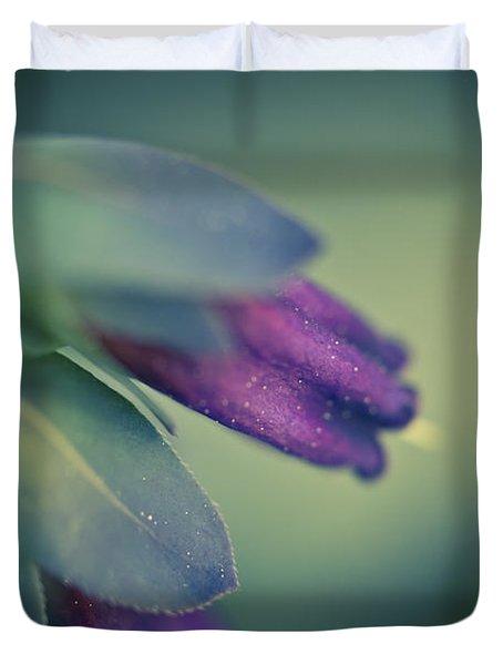 Blue Honeywort Duvet Cover by Priya Ghose